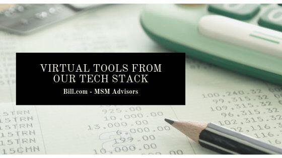 Virtual Tools from Our Tech Stack Bill.com